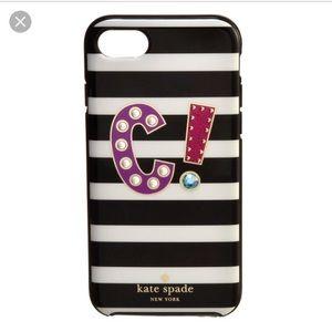 NWT Kate Spade C iPhone 7 phone case cover multi
